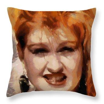 Cyndi Lauper Throw Pillow