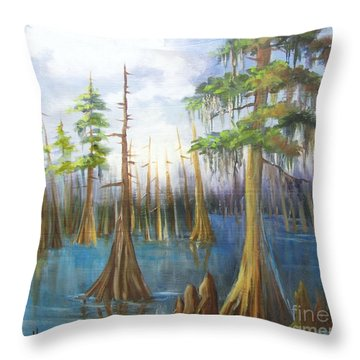 Cypress Bayou 136 Throw Pillow