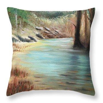 Cypress Bend Throw Pillow