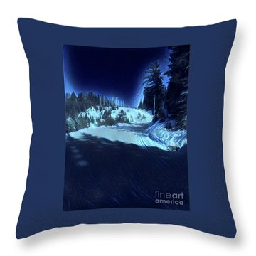 Cypress Bowl, W. Vancouver, Canada Throw Pillow