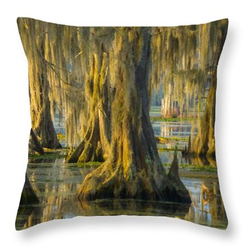 Cypress Canopy Uncovered Throw Pillow