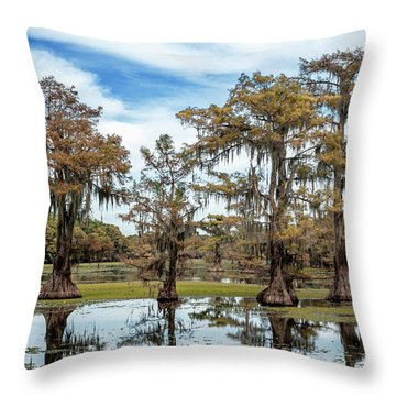 Cypress Expression  Throw Pillow
