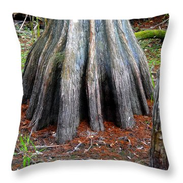 Cypress Footprint Throw Pillow