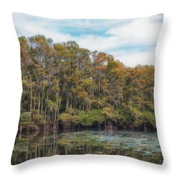 Cypress Jungle Throw Pillow