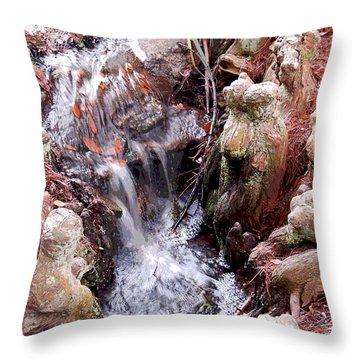 Cypress Knees Enhanced Throw Pillow