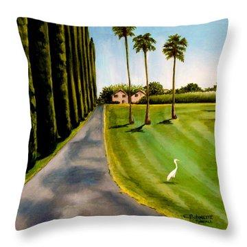 Cypress Palms Throw Pillow by Elizabeth Robinette Tyndall