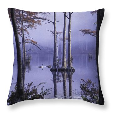 Cypress Pond 11 Throw Pillow