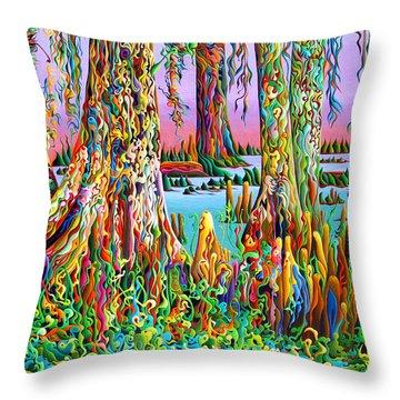 Cypress Spirit Rising Throw Pillow
