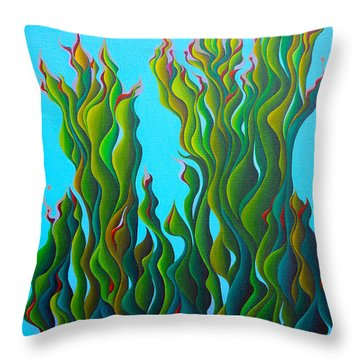 Cypressing A Wave Throw Pillow