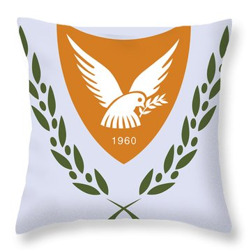 Throw Pillow featuring the drawing Cyprus Coat Of Arms by Movie Poster Prints