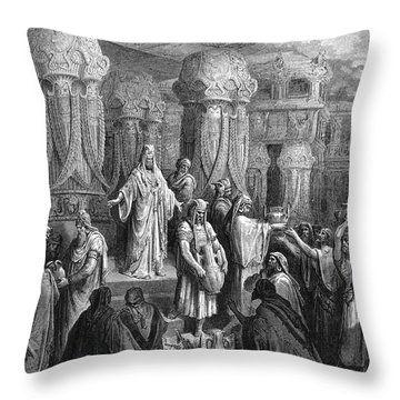 Cyrus Restoring The Vessels Throw Pillow by Photo Researchers