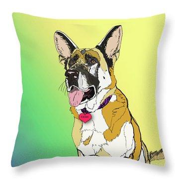 Czaki In Digi Throw Pillow