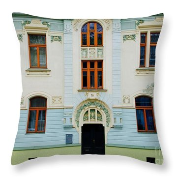 Czech Facades Throw Pillow