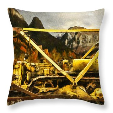 D-4 Cable Blade Cat Throw Pillow