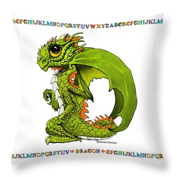 Throw Pillow featuring the digital art D Is For Dragon by Stanley Morrison
