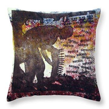 D U Rounds Project, Print 37 Throw Pillow