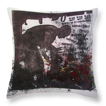 D U Rounds Project, Print 41 Throw Pillow