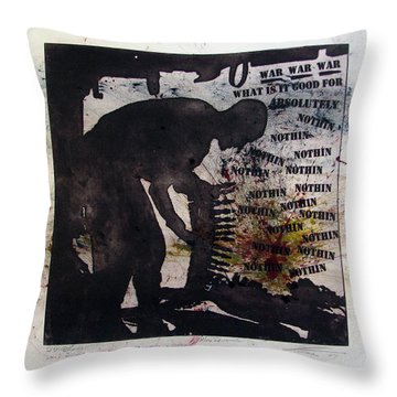 D U Rounds Project, Print 53 Throw Pillow