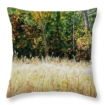 Throw Pillow featuring the painting D Vine by Lynn Babineau