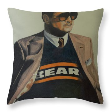 Da Coach Ditka Throw Pillow