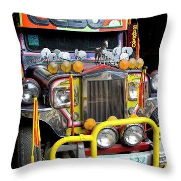 Da Jeepney Throw Pillow