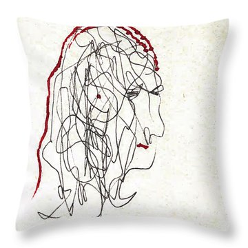 Da Vinci Drawing Throw Pillow