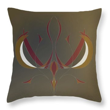 Da Vinci Spider Throw Pillow