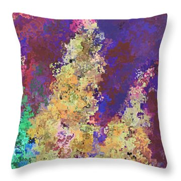 Dabble Flowers Throw Pillow