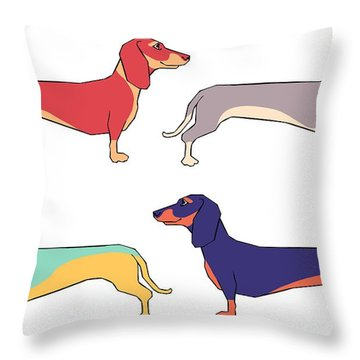 Colorful Dog Throw Pillows