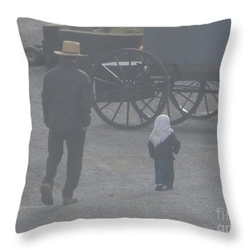 Dad And Daughter Throw Pillow