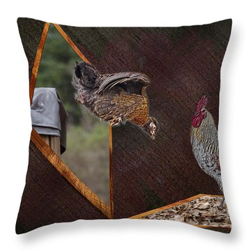 Dad Look I Am Jumping Throw Pillow by Donna Brown