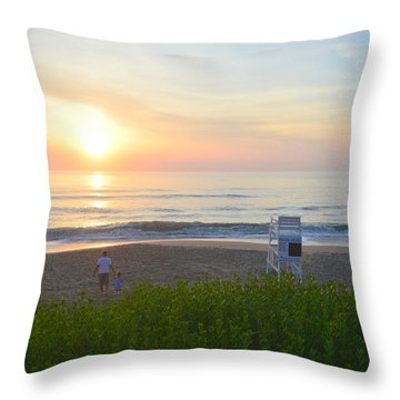 Throw Pillow featuring the photograph Daddy Daughter Time by Barbara Ann Bell