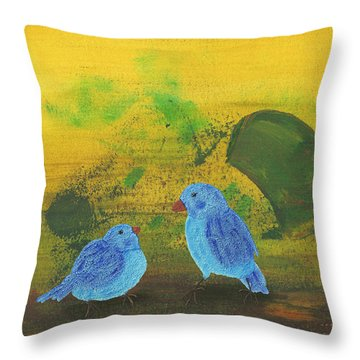Daddy, Hungry Throw Pillow