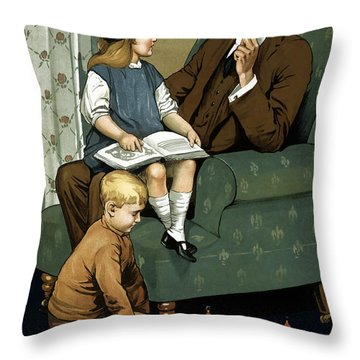 Daddy What Did You Do In The Great War Throw Pillow