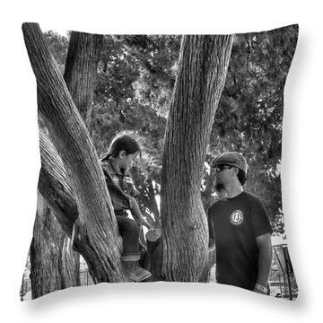 Daddy's Day Off  Throw Pillow