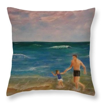 Daddys Girl Throw Pillow