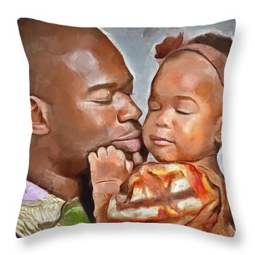 Daddy's Girl Throw Pillow by Wayne Pascall