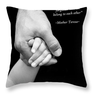 Daddy's Hand Throw Pillow