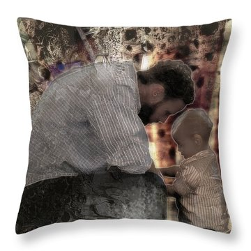 Daddys Hands Throw Pillow