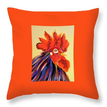 Throw Pillow featuring the painting Dadoodle by Bob Coonts