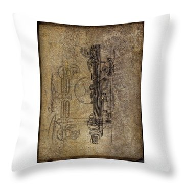 Dads Clarinet Throw Pillow