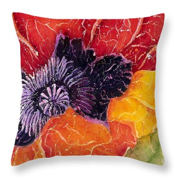 Dad's Poppy Throw Pillow