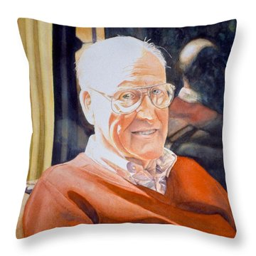 Dad's Red Sweater Throw Pillow