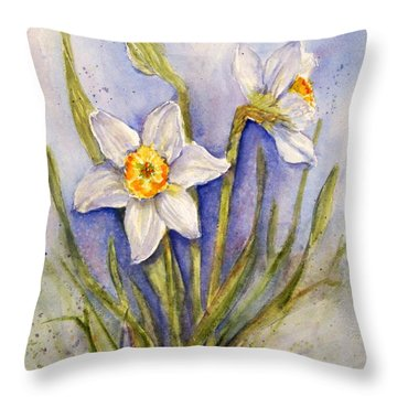 Daffodil Couple Throw Pillow