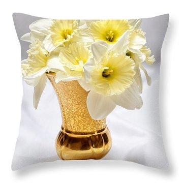 Daffodil Elegance  Throw Pillow
