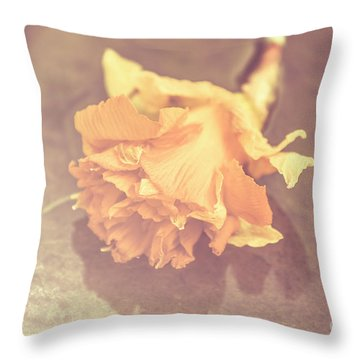 Daffodil Reflections  Throw Pillow