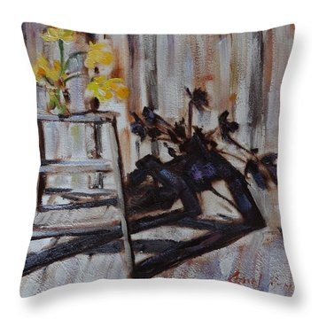 Daffodil Shadows Throw Pillow
