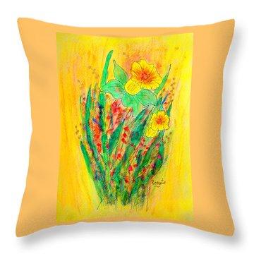 Daffodiles  Throw Pillow