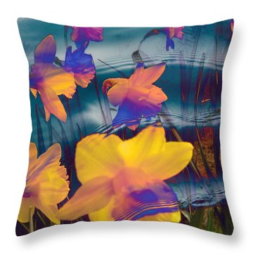 Daffodils #1 Throw Pillow