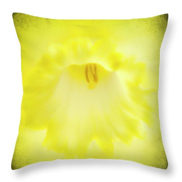 Daffodils Are Yellow Throw Pillow by Meirion Matthias